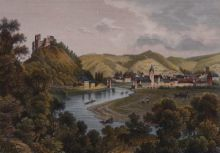 Людвиг Робок, Людвиг Тюмлинг. Вид города Нассау (Германия). 1840-1860-е. Из собрания ГМП