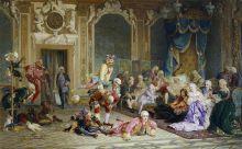 Якоби В. И. Шуты при дворе императрицы Анны Иоанновны. Холст, масло. 1872
