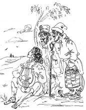 Е.Шипицова. Куда, куда вы удалились... Иллюстрация к роману -Евгений Онегин-. 2020. Тушь, перо