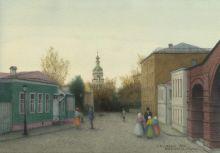 Крутицкая улица. 27x39. Бумага, акварель. 2016