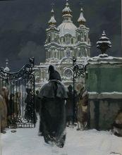 Николаев А.В. иллюстрация к Пиковой даме бумага, гуашь 1978