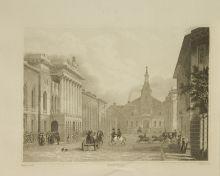 А. Башуцкий. Начало Литейного проспекта. 1834. Бумага, гравюра на стали