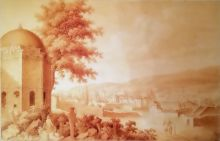Е.М. Корнеев (1780−1839). Бахчисарай. Ханский дворец. 1804 Бумага, сепия, тушь, перо