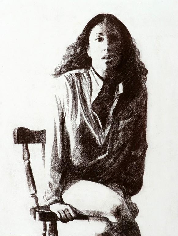 Любовь Борисова. Автопортрет, 1985.