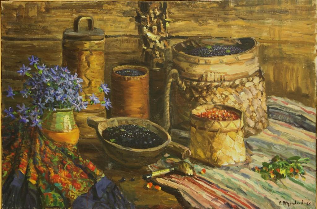 Лев Николаевич Журавлев. Дары лета. 1996. Холст, масло