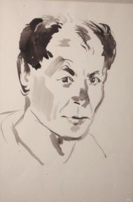 Н. Кузьмин. Автопортрет. Бумага, акварель. 1930.