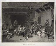 Ф. Дебюкур с оригинала Д. Уилки. Игра в жмурки. 1824. Меццо тинто.