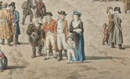 Вид старой площади. Д. Лафонд с оригинала Ж.Б. Делабарта. 1801. Гравюра, акварель. Фрагмент.
