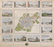 А.А. Афанасьев План столичного города Москвы. 1825 Гравюра, акварель