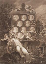 Тильзитский мир. Аллегория. 1807 год. Д. Бергер