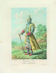 Е.М. Корнеев. Черкесский князь. 1813. Гравировали А. Адам и И. Грос. Офорт, акватинта, цветная печать.