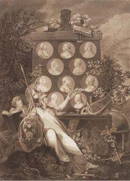 Тильзитский мир. Аллегория. 1807 год. Д. Бергер.