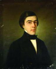 Г. Швинд. Портрет Д.Д. Благово. 1850. Холст, масло.