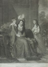 Д. Уокер с живописного оригинала М.-Э.-Л. Виже-Лебрен. 1797. Портрет графини Е.С. Самойловой с детьми. 1798. Акватинта.