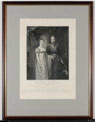 Ф. Велин с оригинала Я. Пинемана  «Анна Павловна, великая княгиня и принцесса Оранская с крон-принцем Нидерландским Вильгельмом Оранским». 1816 г. Гравюра резцом, бумага, печать.