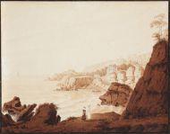 Неизвестный художник. Крым. Берег моря. Первая треть XIX века. Сепия