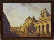 Боярская площадка, или Постельное крыльцо. Воспроизведение с оригинала Ф.Я. Алексеева 1801 года. Холст, печать.