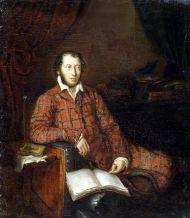 А.С. Пушкин (1799–1837). К.-П. Мазер. 1839. Холст, масло.