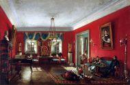 Гостиная в доме Нащокиных. Н. И. Подключников. 1838. Холст, масло.