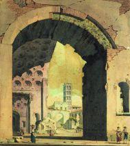 А. Брюллов. Базилика Максенция и Константина на Римском форуме. 1823-1826 гг.