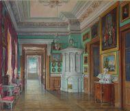 Э. П. Гау. Туалетная императора Павла I. 1877. Бумага, карандаш, акварель, белила.