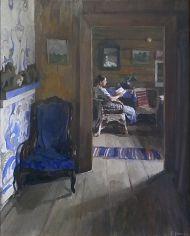 Евгений Утенков. Интерьер. 1957. Холст, масло.