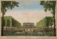 Неизв. художник. Сад и дворец Эврe в Париже, принадлежащие маркизе де Помпадур. Около 1750 г.
