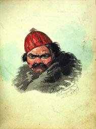 Портрет Дениса Давыдова. Начало 1820-х гг. Из Альбома Аннет Козловой.