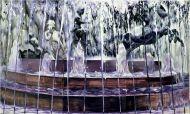 У фонтана. 2015. Шу Цун. Холст, масло. 180x300