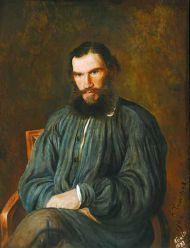 С. А. Толстая с оригинала И. Н. Крамского. Портрет Л. Н. Толстого