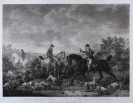 Ф.Л.Дебюкур по оригиналу К.Верне Собаки, потерявшие след. 1804 Акватинта, офорт.