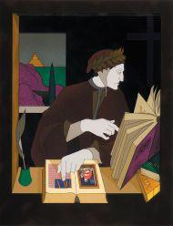 Том Филлипс. Данте в своем кабинете. Сериграфия, бумага, 76,5х54,5 см