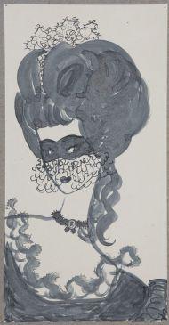 Иллюстрация к повести Пиковая дама. Московская Венера в Париже.1967