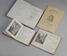 Первые издания поэмы А.С. Пушкина Бахчисарайский фонтан на русском, французском и немецком языках.