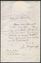 Записка И.С. Тургенева к Юберу Леонару. Париж. 18 марта 1875 года.