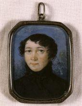 Неизвестный художник. Портрет В.П. Тургеневой. 1810-е. Кость, акварель, гуашь.