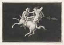Ф. Морген с оригинала К. Падерни (1757-1762). Кентавр с вакханкой. Начало XIX в. Офорт, резец.