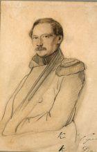 Константин Карлович Данзас (1801–1870). Неизвестный художник. 1836, Россия. Бумага, карандаш