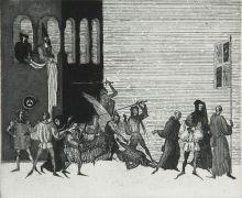 Иллюстрация к трагедии А.С. Пушкина «Скупой рыцарь»
