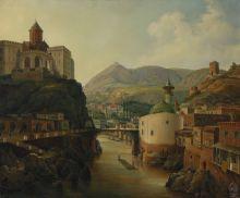 Вид Тифлиса.  Копия В.В.Кузьминой с оригинала Н.Г. Чернецова 1839 года