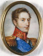 Рисунок в раме (миниатюра). Неизвестный художник  «Николай I». Около 1826 г. Кость домашнего животного, акварель, гуашь.