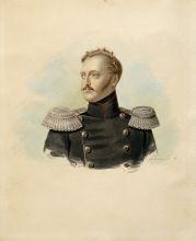 Портрет императора Николая I. 1836. Картон, аквраель, тушь. Из собрания ВМП