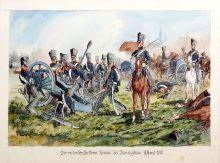 Г. Саттлер. Пруссаки в сражении при Макёрне (Данигков), 5 апреля 1813 г. 1914. Дар А.И. Боровкова.