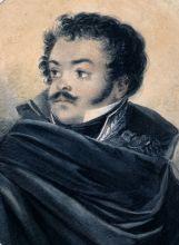 В.П. Лангер. Портрет Дениса Давыдова. 1819 г. Из собрания ГМП.