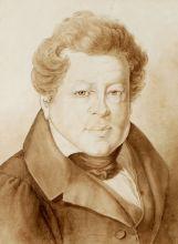 Г.-А. Кестнер. Портрет А.И. Тургенева. Рим, 1833 г. Бумага, сепия, чернила. Из собрания ВМП.