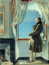 Е.Р. Рейтерн. В.А. Жуковский у окна. 1832 г. Из собрания ГМП.