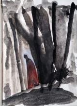 Миммо Паладино. Ад, Песнь I, Сумрачный лес. Акварель, бумага, 48х34 см
