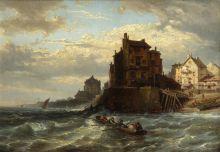 Карл Джозеф Кувассег . Триест. 1870. Холст, масло.