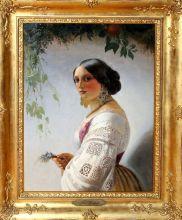 Портрет соррентийской девушки. Середина 19 века. Т.А. Нефф