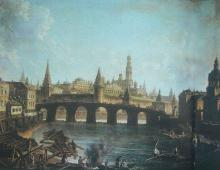 Ф.Я. Алексеев. Вид Московского Кремля и Каменного моста.1810-е Холст, масло